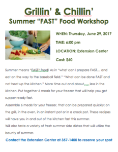 Cover photo for Summer FAST Food Workshop