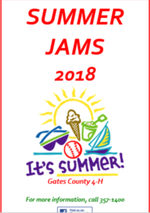 Summer Jams 2018 flyer image